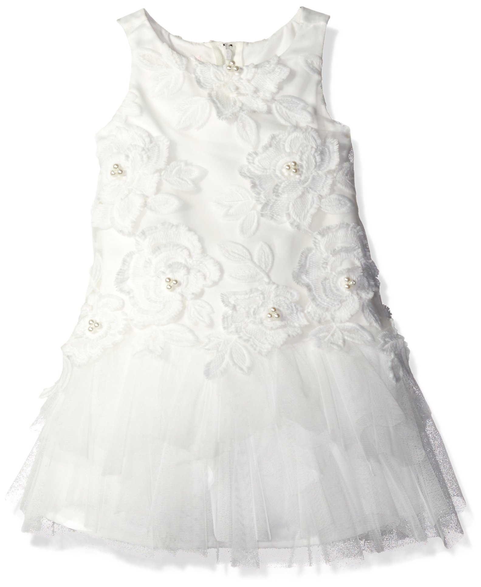 Biscotti Toddler Girls Wedding Party Dress With Embroidered Bodice, Ivory, 3T