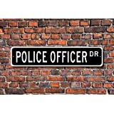 Puernash Tin Signs Home Decoration Police Officer Gift Sign Law Enforcement City Or State Police Street Sign Art Wall Decor Metal Sign 4 x 16