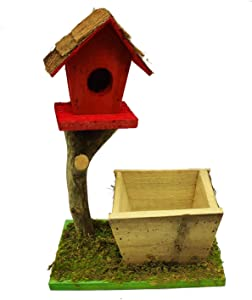 Hamiledyi Wooden Bird House Natural Wood Decorative Birdhouse,Backyard Bird Nest Outdoor Decor for Finch Wren Robin Cedarand Sparrow Hummingbird