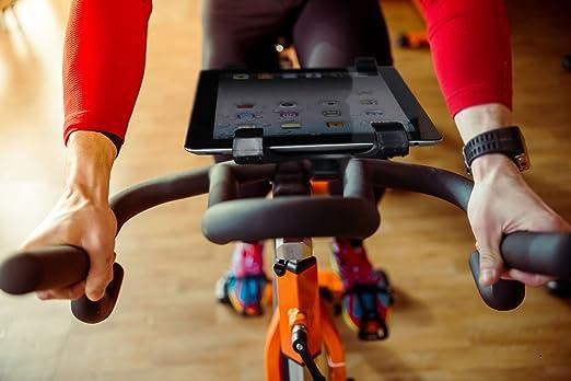 Lavolta - Atril de soporte de iPad para cinta de correr Spinning bicicleta estática elíptica Ejercicio Bicicleta - Ajuste Universal para Tablets de 7 - 11, ...
