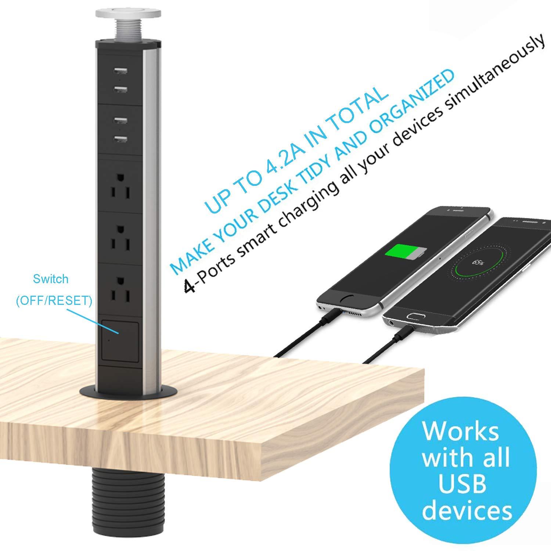Amazon.com: Grommet de alimentación con USB, toma de ...