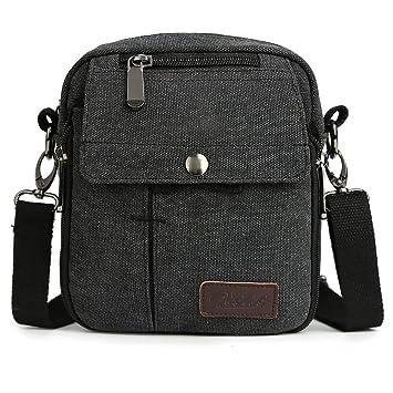 Image Unavailable. Zicac Men s Small Vintage Multipurpose Canvas Shoulder  Bag ... 14ddcae938