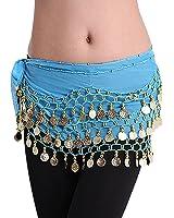 LQZ(TM) Ceinture Danse Orientale Belly Danse du ventre Ethnique Soie Écharpe Foulard Femme Fille
