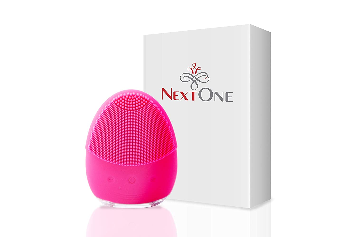 Waterproof Facial Cleansing Brush – Cleanser Sonic Silicone Face Scrubber For Cleaning All Skin Type – Face Scrubber Electric with Rechargeable USB – Recommended facial cleanser brush by Dermatologist