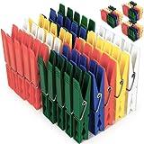 100x Deuba® Wäscheklammern aus Kunststoff - Wäscheklammer Klammern ✔extra starke Feder mit verzinktem Stahldraht ✔ 5 verschiedene Farben ✔witterungsbeständig