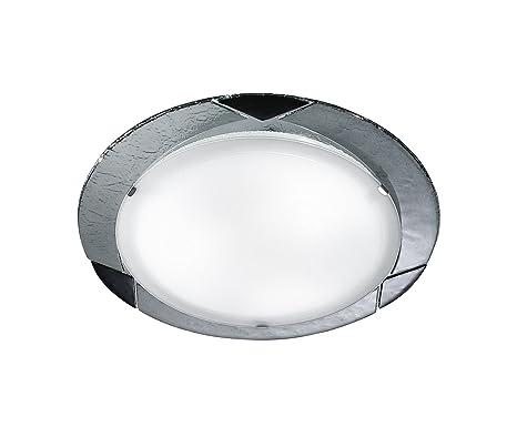 Plafoniere Con Vetro : Rossini illuminazione plafoniera con vetri amazon