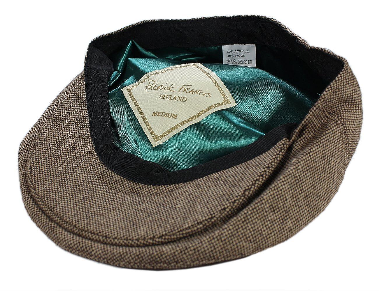 dceffad33 Patrick Francis Men's Ireland Tweed Flat Cap