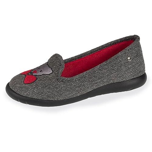 Isotoner Zapatillas Slippers Mujer Bordado Ultra Ligero: Amazon.es: Zapatos y complementos