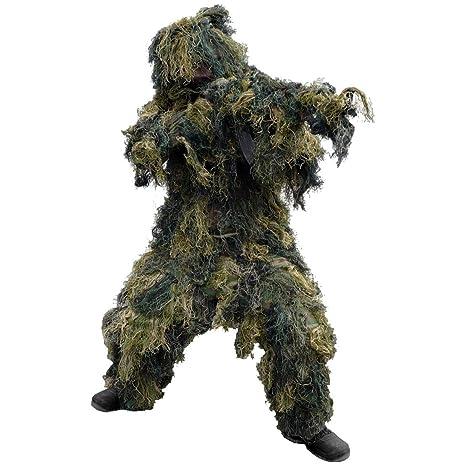 Amazon.com: Mil-Tec Ghillie Suit 4 pcs. Woodland: Clothing