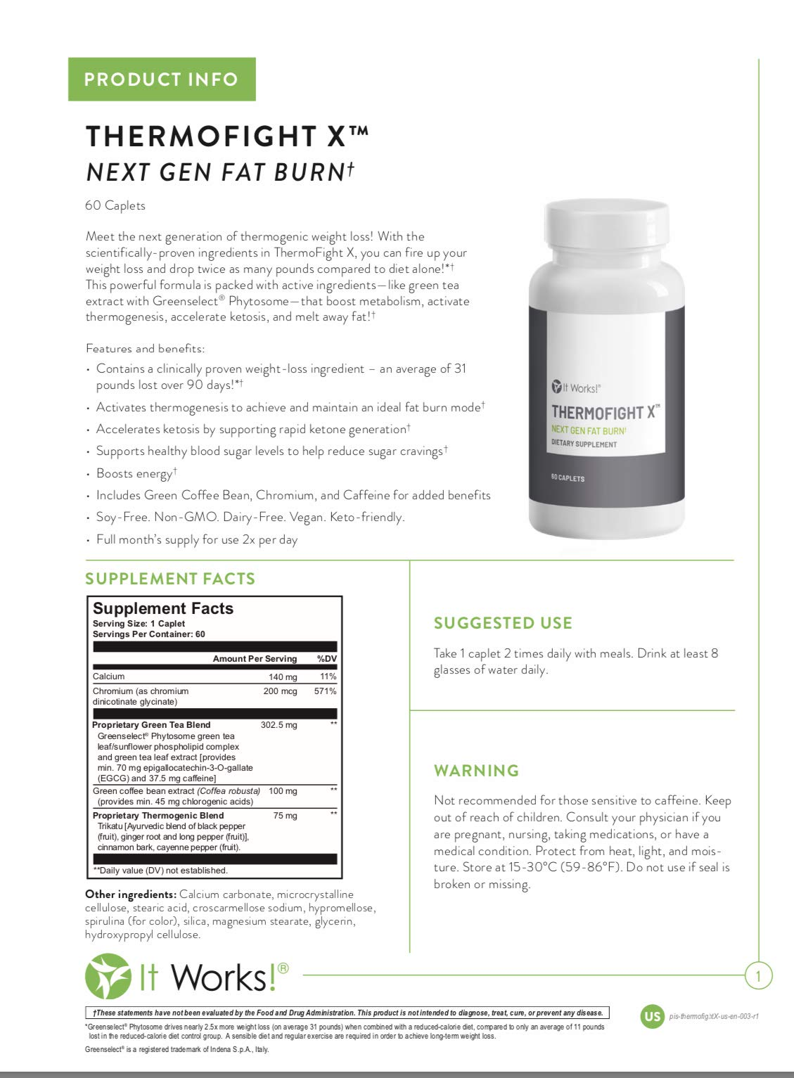 Thermofight X Next Gen Fat Burner - 60 Caplets by It Works (Image #3)