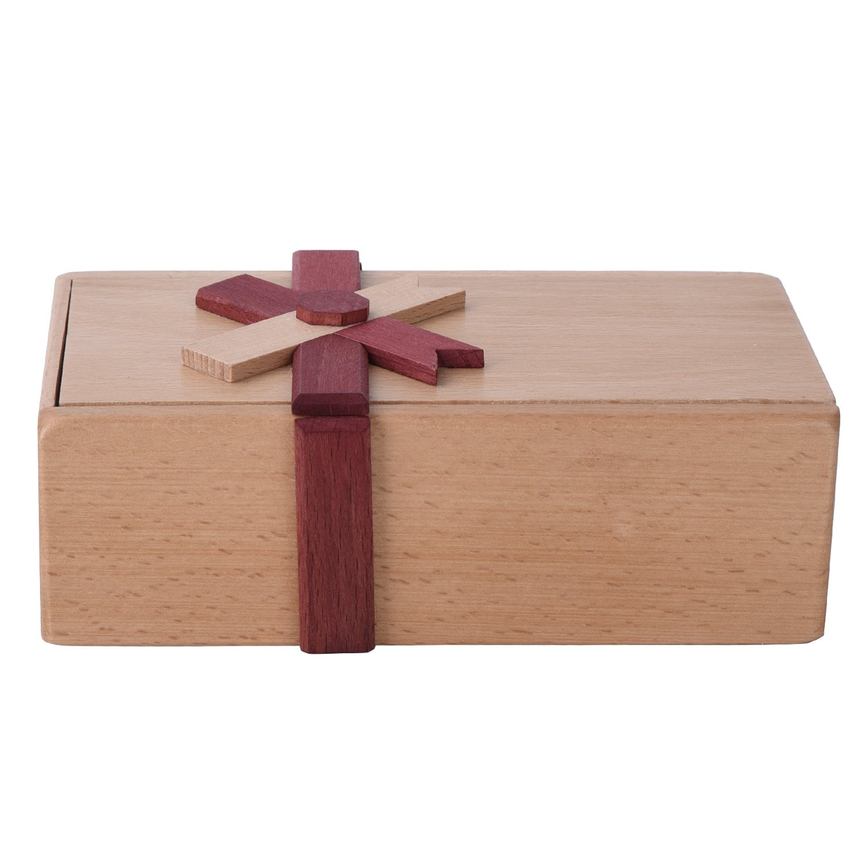 Vencer Brain Teaser toy Wooden box Gift Jewelery Box Puzzle BOX VSB-003