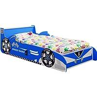 "IB-Style - Juniorbett Kinderbett ""Speedy Racer"" 140 x 70 cm - Rot und Blau"