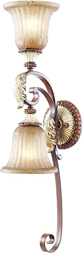 Livex Lighting 8572-63 Villa Verona 2 Light Verona Bronze Finish Wall Sconce