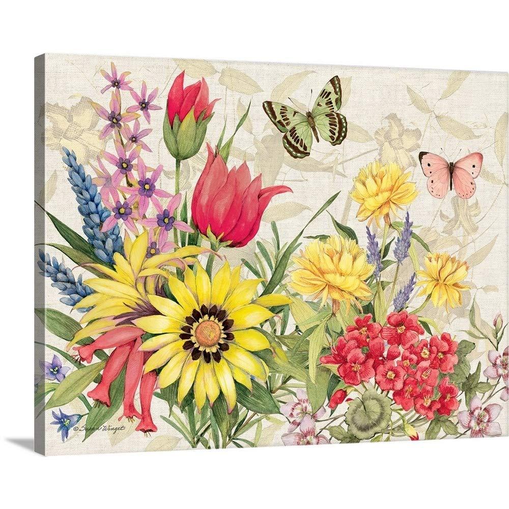 "Canvas Art Print /""Botanical Florals/"""