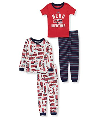 ef205ecfff7d Amazon.com  Carter s Boys  12M-10 4-Pc. Firetruck Pajama Set  Clothing