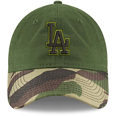 New Era 100% Authentic Los Angeles Dodgers Memorial Day 2.0 9TWENTY  Adjustable Hat - Green 83f5d152964