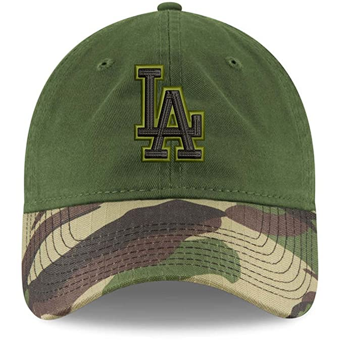 ee7fef6868e Image Unavailable. Image not available for. Color  New Era 100% Authentic  Los Angeles Dodgers Memorial Day 2.0 9TWENTY Adjustable Hat - Green