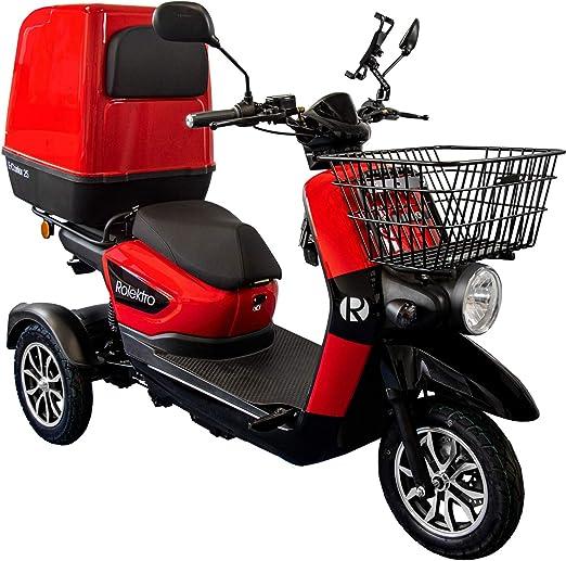 Rolektro E Carrier 25 Km H Dreirad 1000w Elektroroller Lieferroller Bis 70km 3 Rad Elektromobil E Scooter Roller Eu Zulassung Sport Freizeit