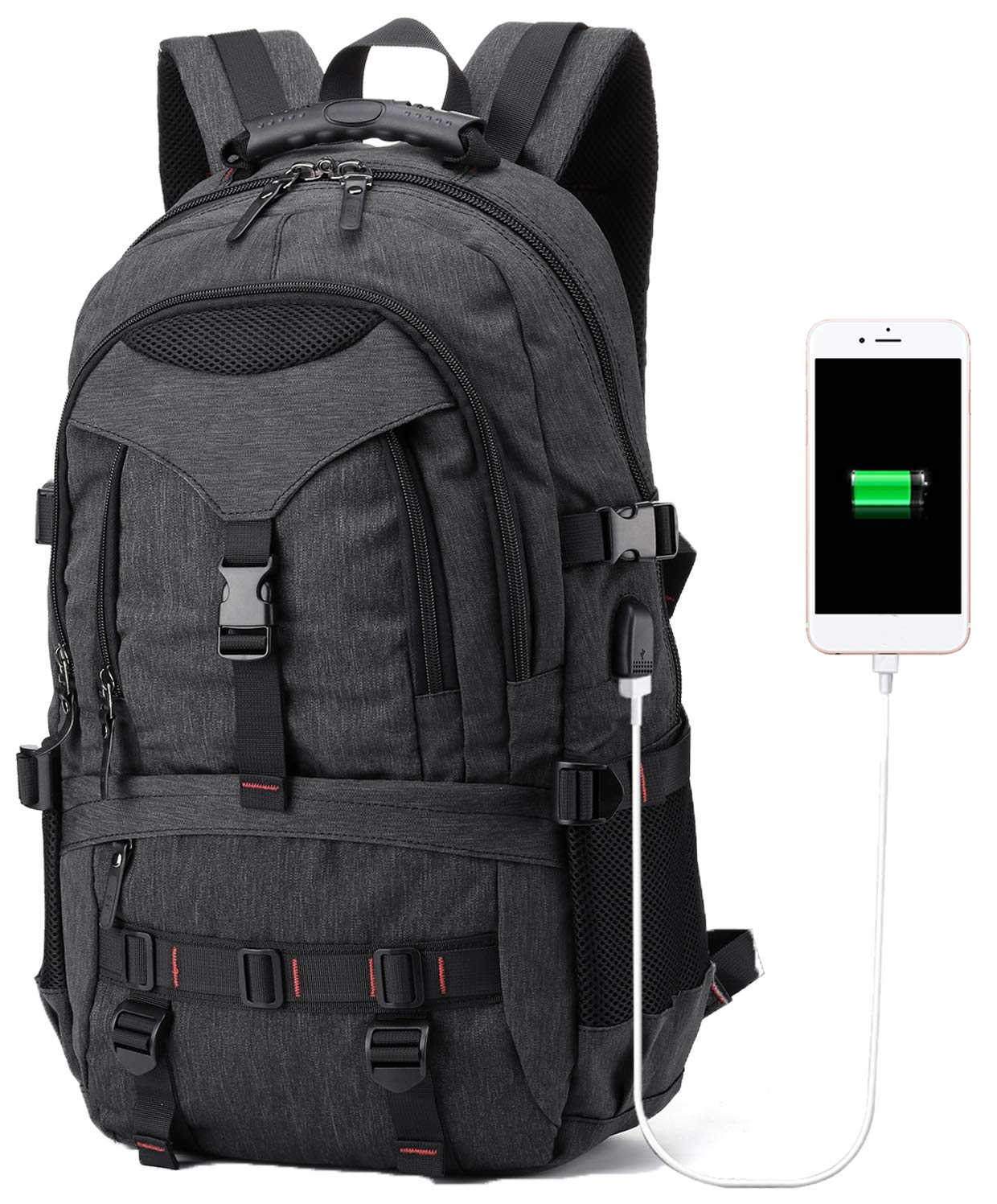 BTOOP Travel Laptop Backpack with USB for Natebook with Shoes Compartment