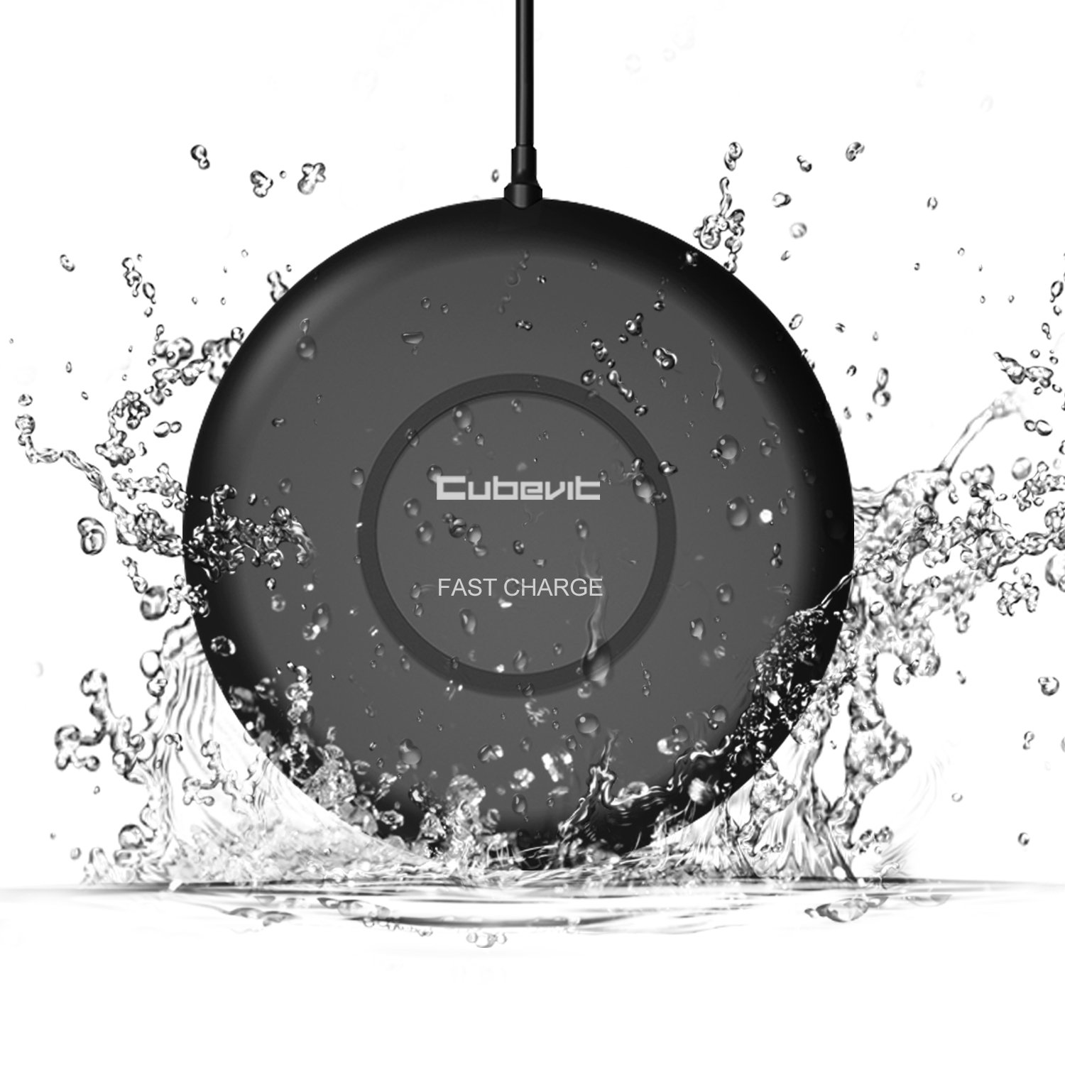 Cubevit [IPX5 Waterproof] Fast Wireless Charger, 7.5W Qi Fast Wireless Charging Pad for Apple iPhone X 8 8 Plus, 10W Fast Charge for Samsung Galaxy S9 S9 Plus Note 9/8/5 S8 Plus S7 Edge S6 Edge Plus