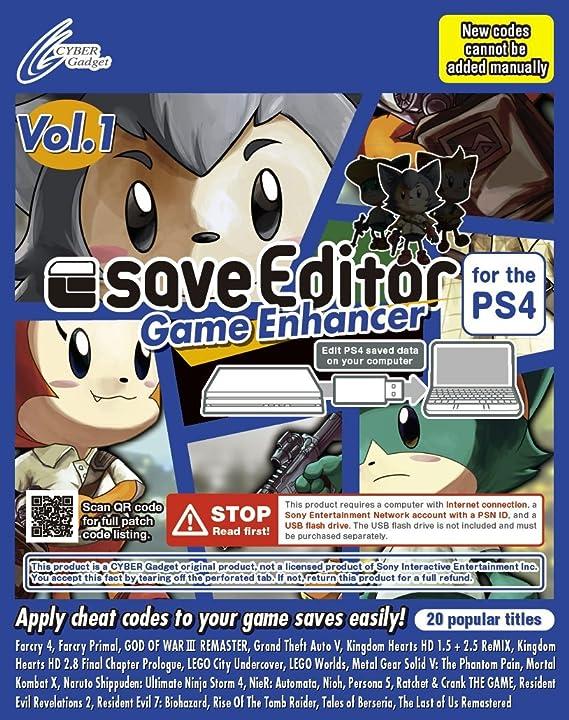 Amazon.com: saveeditor Juego Enhancer para la PS4 Vol. 1 ...