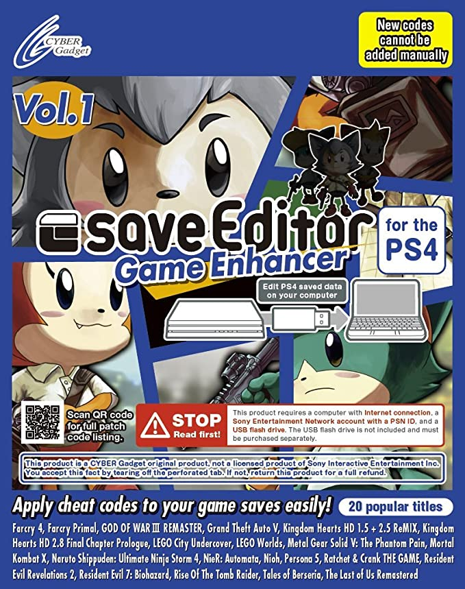 Amazon.com: saveeditor Juego Enhancer para la PS4 Vol. 1 ...