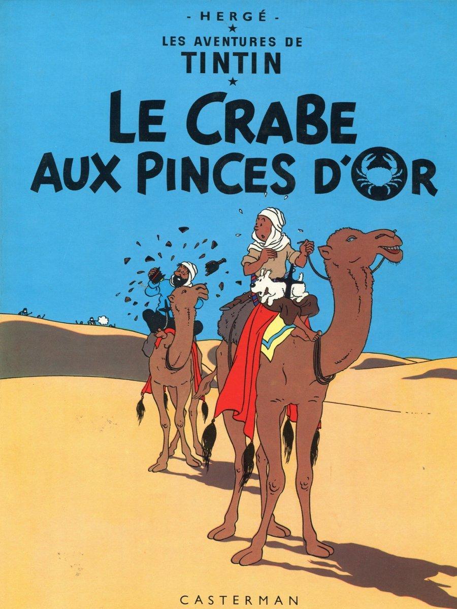 16x20 Decoration poster.Interior design Art.Tin dog.French.Tintin at Sahara.6387