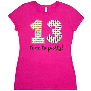 Amazon Inktastic 13th Birthday Party Junior Fit T Shirt Clothing