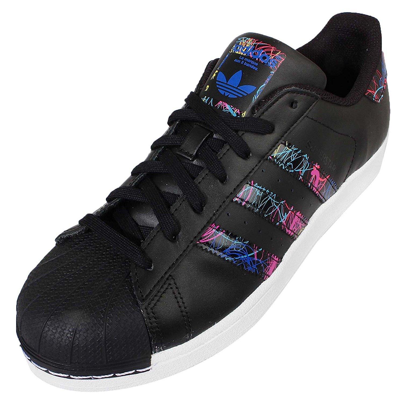 Adidas Superstar CNY Limited Ed. AQ5648 originals, scarpa uomo, sneakers, nero, 44