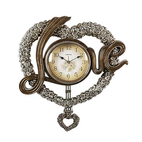 ZHB Reloj Los Relojes de Pared Amor Moda Creativo Dulce Lindo Salón Dormitorio Artes Reloj Decoración