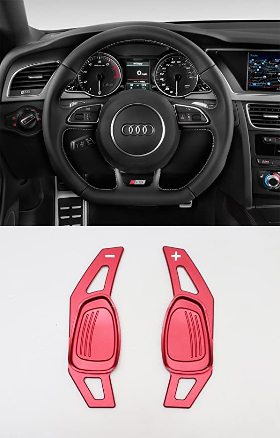 Paleta del volante palanca de cambios del cambio del volante del coche para A5 S5 S6 SQ5 RS3 RS6 RS7 Negro