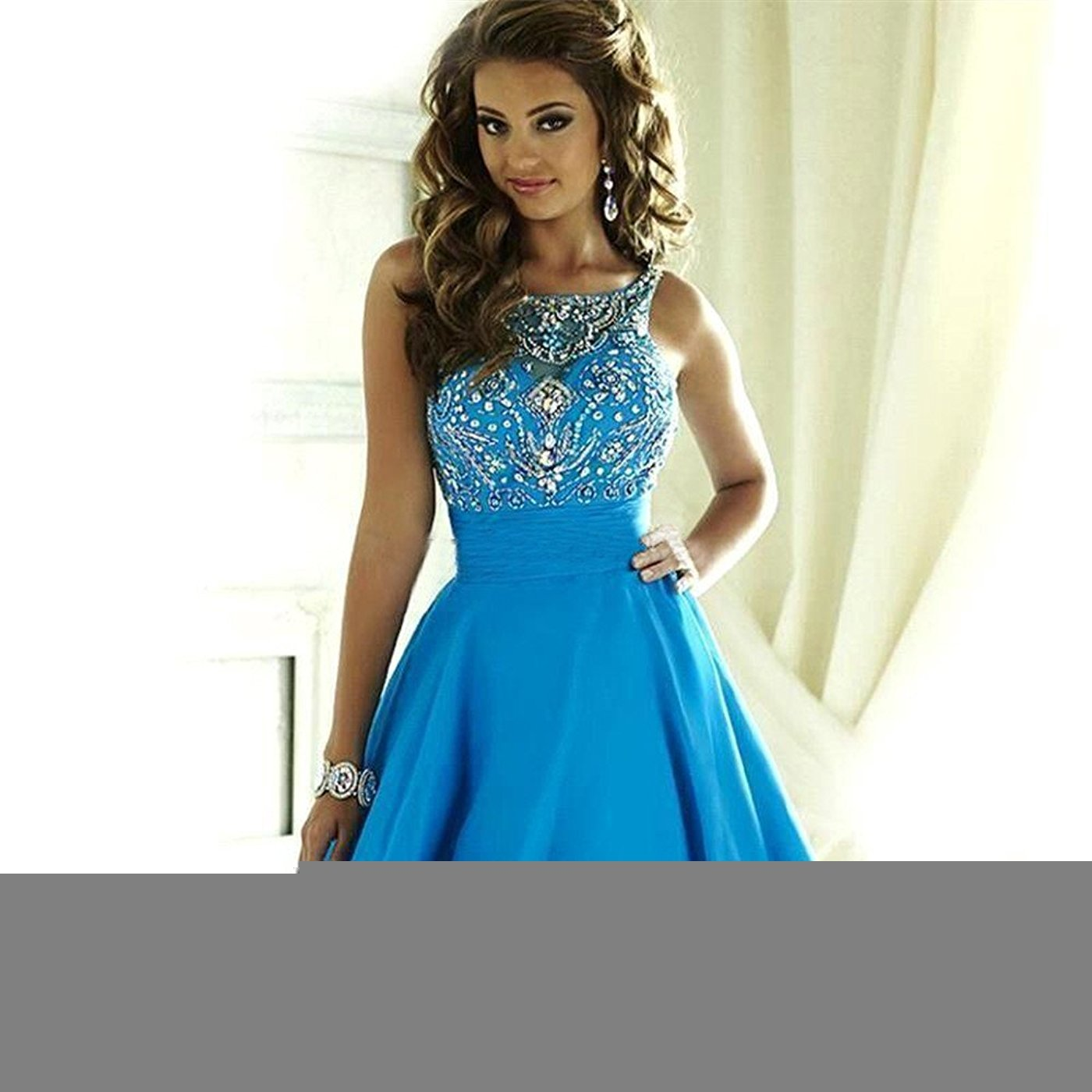 06111cc6baf MEILISAY Meilishuo Women s Sparkly Beading Prom Dresses Short Homecoming  Dresses 2018 for Juniors LF-146   Dresses   Clothing
