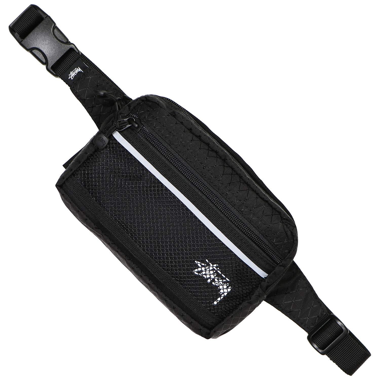 (ステューシー) STUSSY DIAMOND RIPSTOP WAIST BAG (BAG)(134193:BK) バッグ 鞄 リュック ウエスト ショルダー ポーチ 国内正規品 F ブラック B07NVP4NT9