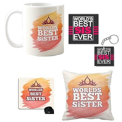 YaYa CafeTM Birthday Bhaidooj Gifts For Sister Worlds Best Mug Coaster