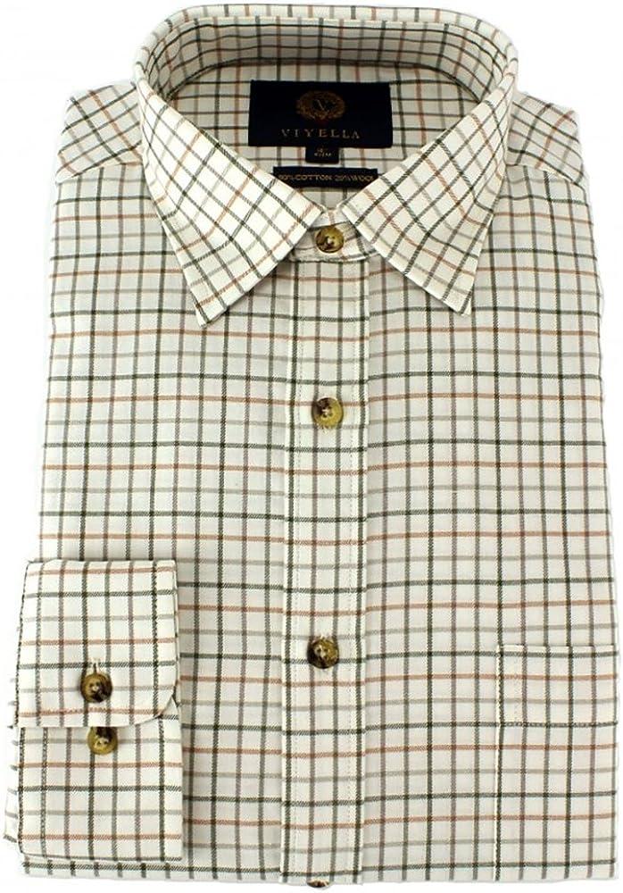 Viyella-Classic Medium Tattersall Camicia a Quadri