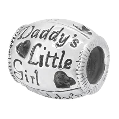 Amazon Com Zable Daddy S Little Girl Pandora Compatible Bead