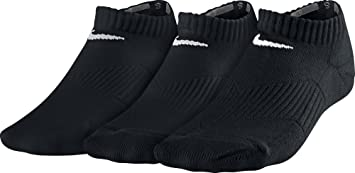 Nike Calcetines 3P YTH CTN Cush NO Show W/MOI: Amazon.es ...
