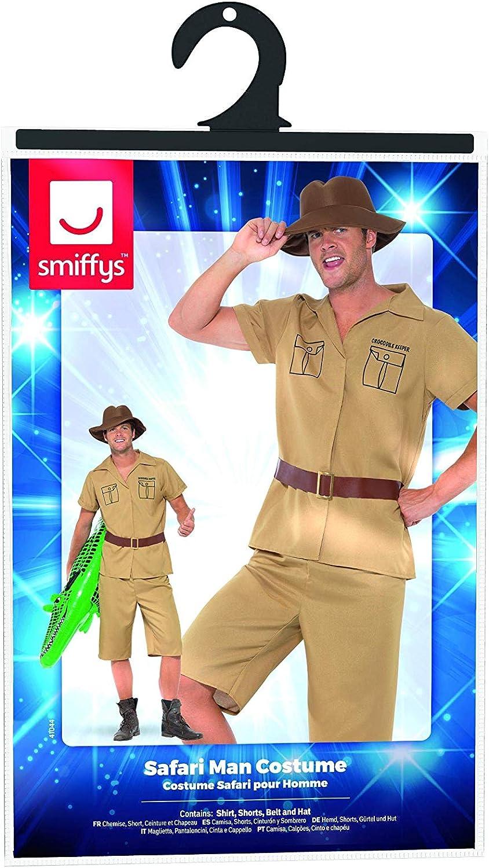 Shirt Shorts Brown Smiffys Adult mens Safari Man Costume M Belt and Hat