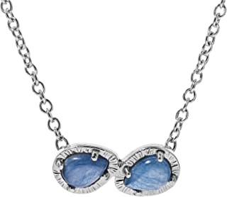 product image for Carolyn Pollack Sterling Silver Lapis and Turquoise, Turquoise or Kyanite 2-Stone Necklace 16 to 18 inch