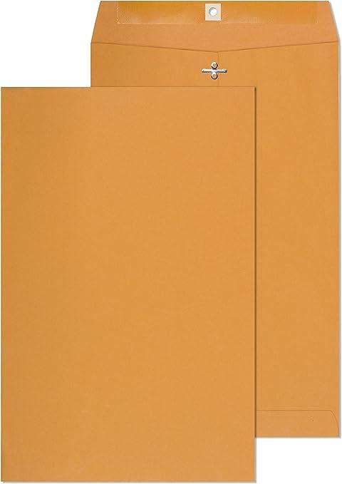 Amazon.com: Endoc – Sobres de papel kraft marrón con cierre ...