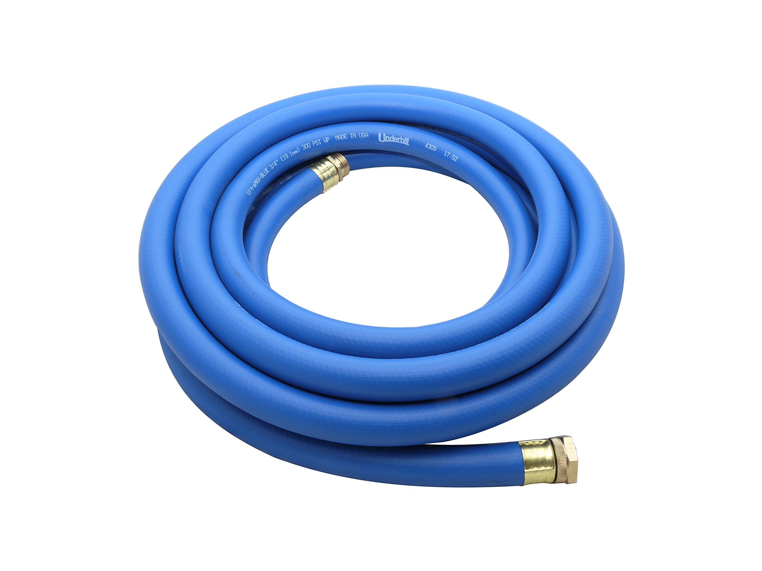 Underhill H10-100B 1-Inch UltraMax Premium Lightweight Commercial Hose, 100-Feet Length, Blue