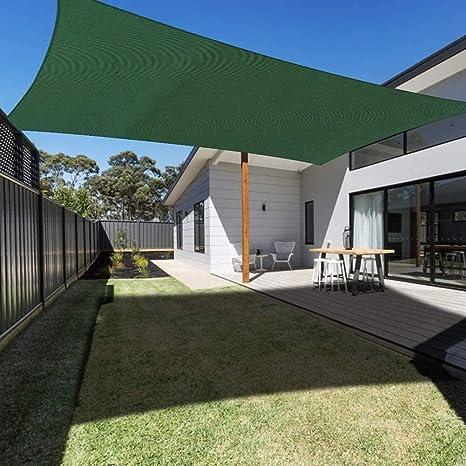 MGE 95% UV rectángulo Parasol Vela Impermeable Bloque Protector Solar Toldo Toldo Sunsail for el jardín al Aire Libre Patio Party (Color : Green, Size : 3X4M): Amazon.es: Hogar