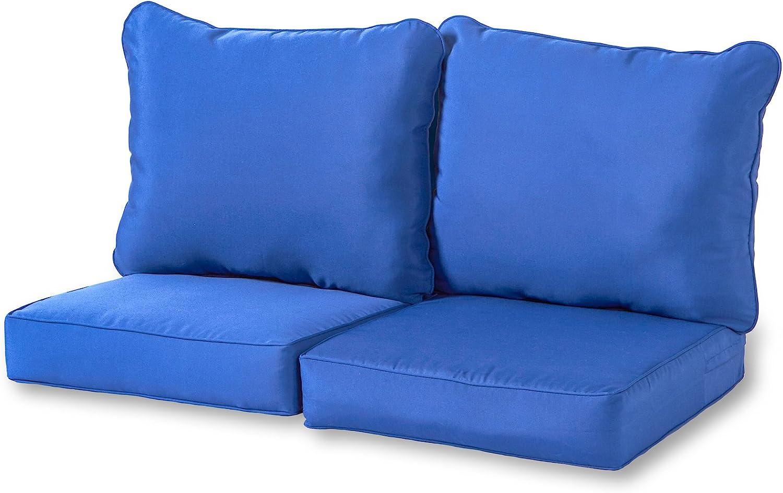 Greendale Home Fashions Deep Seat Loveseat Cushion Set, Marine