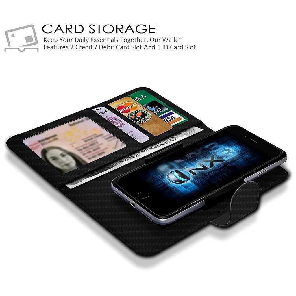 Blade v8 Pro Wallet ID Card Holder Case with Camera Slide and Banknotes Slot