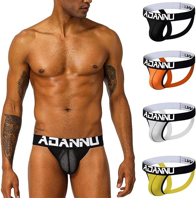 ADANNU - Everyday Pack de 4 Multicolor Calzoncillos Bóxer con ...