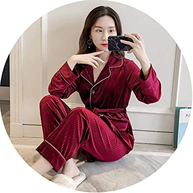 4037b3aa8e Womens 2pcs Sleep Top Pants Suit Robe Bath Gown Sleepwear Sets Casual  Pajamas