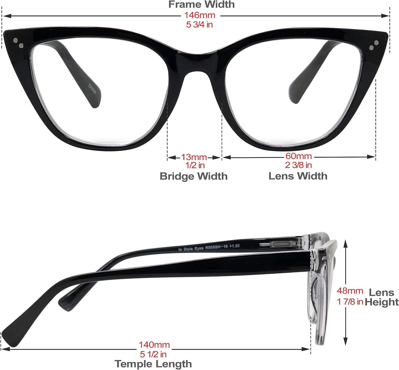 Cats Eye glasses black gloss vintage style frames