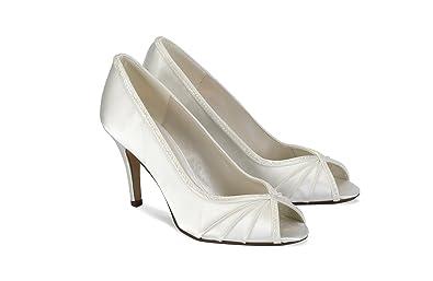 2818a4e73878 Pink Paradox London Crush Ivory Wedding Shoes Size 9  Amazon.co.uk ...