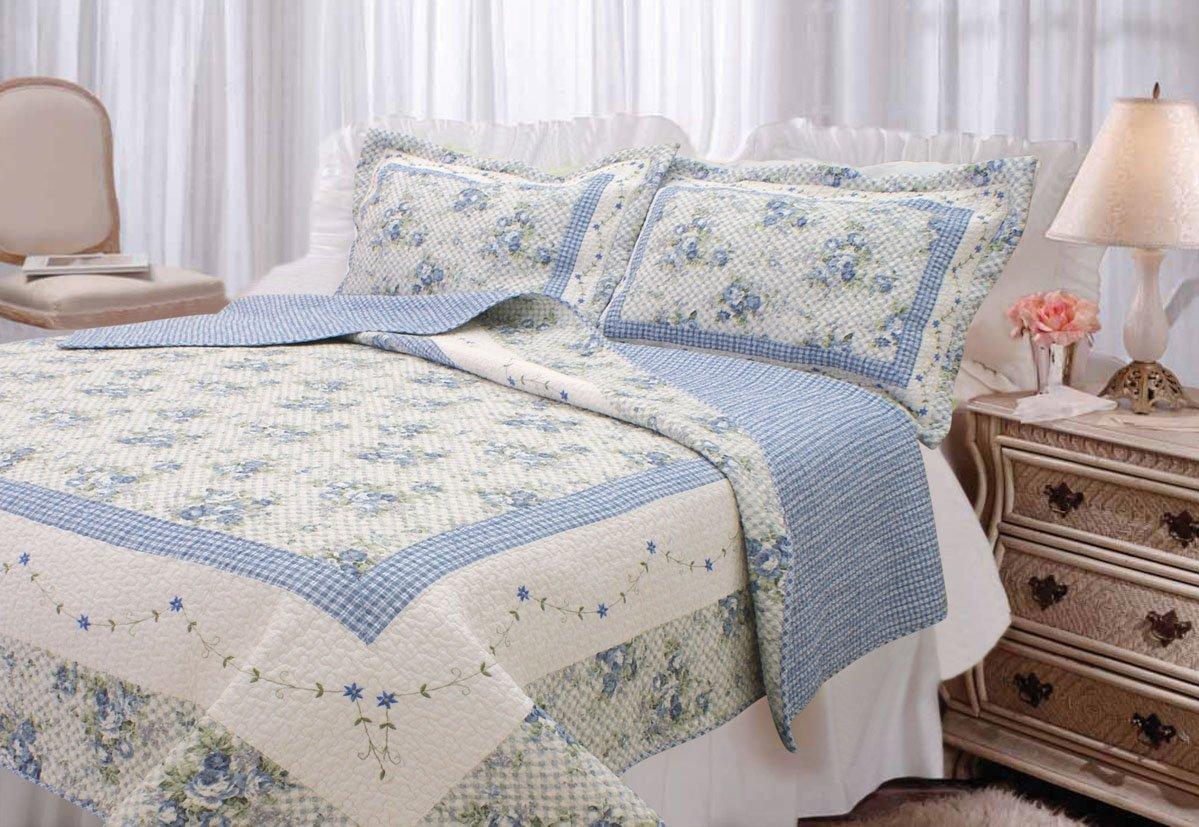 Amazon.com: Textiles Plus, Inc. 100-Percent Cotton Full/Queen mini ... : cotton quilts queen size - Adamdwight.com