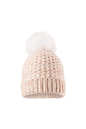 f1b53a06d03 Mountain Warehouse Tinsel Top Womens Sparkle Pom Beanie - Interchangeable  Poms Warm Hat